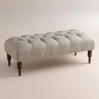 Textured Woven Clare Tufted Upholstered Bench