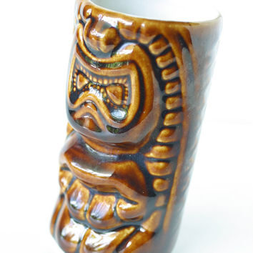 Vintage Tiki Cup Tropical Ceramic Daga Hawaii