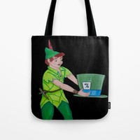 Neverland meets Wonderland Tote Bag by Sierra Christy Art