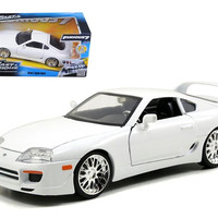 "Brian's Toyota Supra White ""Fast & Furious"" Movie 1-24 Diecast Car Model by Jada"
