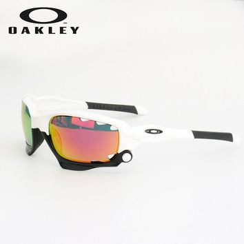 Oakley sunglasses jaw bone outdoor glasses polarized Replaceable lens white red