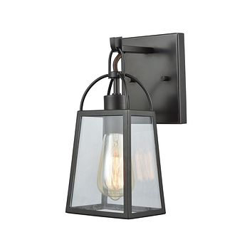 Barnside 1-Light Vanity Lamp in Oil Rubbed Bronze with Clear Glass Panels
