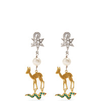 Star, deer and snake clip-on earrings | Miu Miu | MATCHESFASHION.COM UK