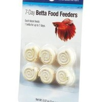 Aqueon Betta Fish Food Vacation Feeder 7 Day 6-Pack