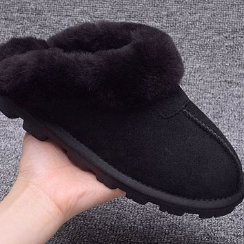 LFMON UGG Slipper Sheepskin Women Men Fashion Casual Wool Winter Snow Boots Black
