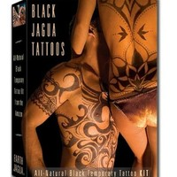 Organic Jagua Black Temporary Tattoo and Body Painting Kit - Black