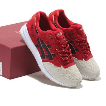 ASICS GEL LYTE TRENDING Sneaker running shoes Sports Shoes Wine red-gray toe