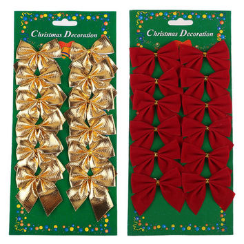 Pretty Bow Xmas Ornament Christmas Tree Decoration Festival Party Home Bowknots Baubles Baubles New Year Decoration N945