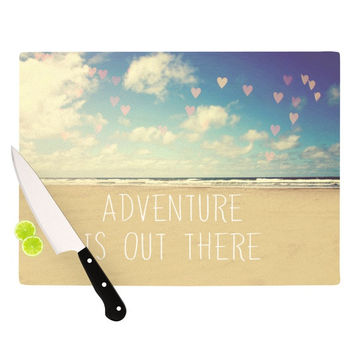 "Sylvia Cook ""Adventure is Out There"" Cutting Board"