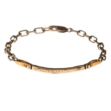 Curved Bar Bracelet - bronze