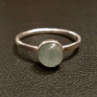 Green Aventurine Stacking Ring by OddsAndEndsByKaley on Etsy