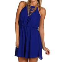 Royal Soft Pleat Dress