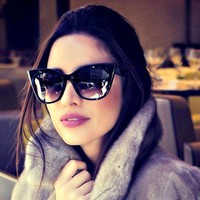 Luxury Vintage Cat Eye Sunglasses Women Brand Designer Retro