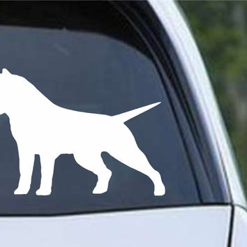 American Bully Pit Bull Dog Silhouette Die Cut Vinyl Decal Sticker
