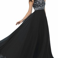 Ubridal Women's 2016 Empire Beading Chiffon Floor Prom Dresses Evening Gowns