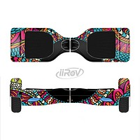 The Vector Colored Aztec Pattern WIth Black Connect Point Full-Body Skin Set for the Smart Drifting SuperCharged iiRov HoverBoard