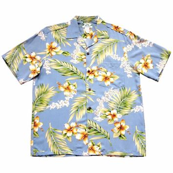 Atoll Blue Hawaiian Rayon Shirt