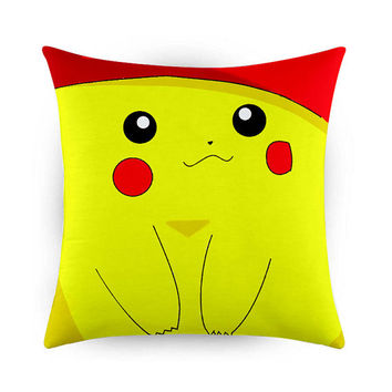 Pokemon Pikachu Pattern, Pillow Cases, Covers, Decorative Pillow Case