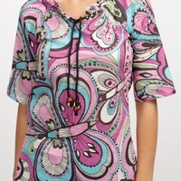 Surfanic Womens Rainbow Paisley Kaftan Purple