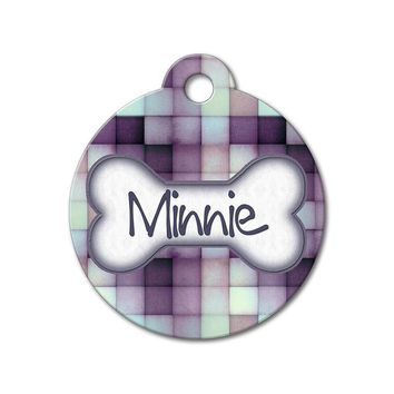 Purple Tiles - Pattern Pet Tags