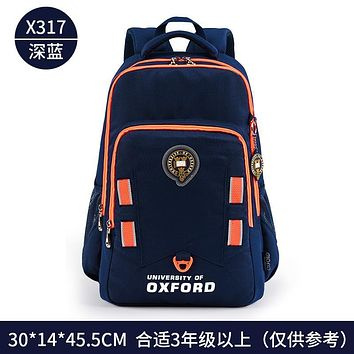 UNIVERSITY OF OXFORD CHILDREN/KIDS CASUAL ERGONOMICS BOOKS SCHOOL BAG SHOULDER BACKPACK FOR BOYS GRADE 4-6 HIGH SCHOOL