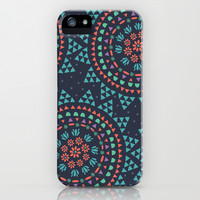 Moon Flower iPhone & iPod Case by Anna Deegan