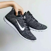 """""""Nike"""" Unisex Sport Casual Fashion Knit Sneakers Couple Running Shoes"""