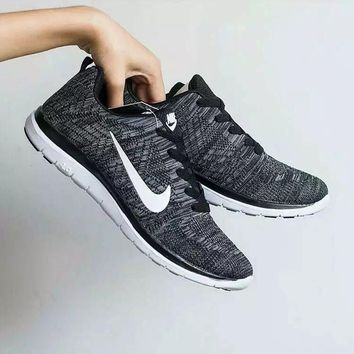 """Nike"" Unisex Sport Casual Fashion Knit Sneakers Couple Running Shoes"