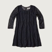 Lace Peasant Dress