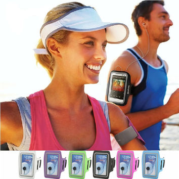 Fashion PU Brush Surface Workout Cover Sport Gym ArmBand Case For iPhone 6 4.7  Arm Band Holder Waterproof Pouch 8521