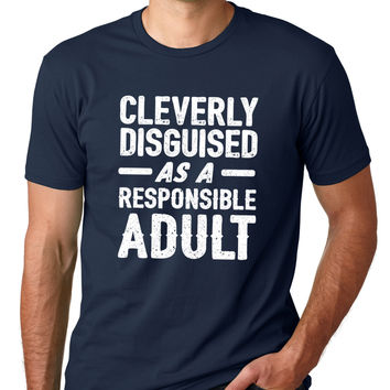Cleverly Disguised As A Responsible Adult Crewneck Tee
