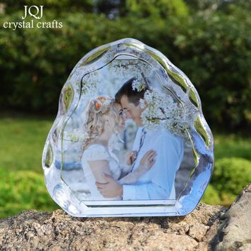 DIY Customized Crystal Wedding Photo Album Scrapbook Picture Stickup Photo Frame for Valentine's Day Anniversary Birthday Gifts