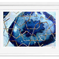 Oliver Gal, Raw Earth Blue, Paintings