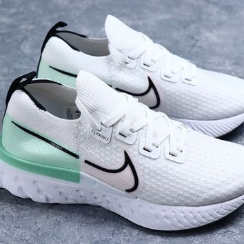 Nike Legend React 3 Run Fearless Women Men White and green Fashion Casual Sneakers Sport Shoes Size 36-45