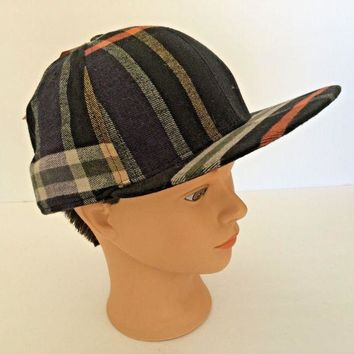 DCCK7BE Nike 6.0 Plaid Hat, Flannel Men's Skateboard Cap, NWT New