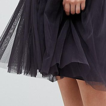 Needle & Thread Embellished Tulle Midi Dress with Cami Straps at asos.com