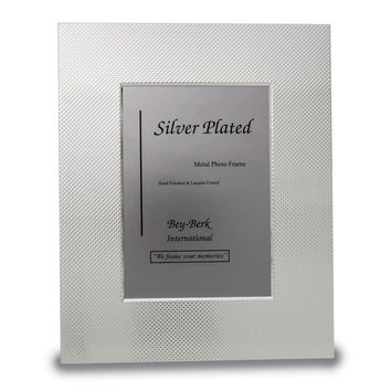 Silver-plated W/ Checkered Design 8x10 Photo Frame