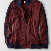 AEO Zip-Up Track Jacket , Burgundy