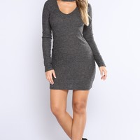 Matias Sweater Dress - Gray