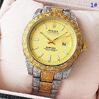 Rolex Fashion Hot Quartz Classic Watch Women Men Retro Wristwatch 1#