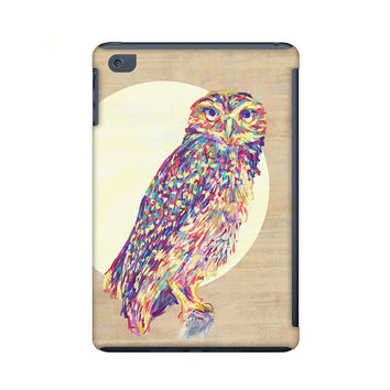 Ipad mini case, owl illustration ipad mini case, colorful owl painting ipad mini case, owl art, modern art for your tablet