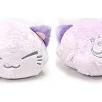FuRyu Nemuneko Cute and Fluffy Cat Plush 15'' with Moon Star ~ Large Purple Cat Kitty Neko Plush