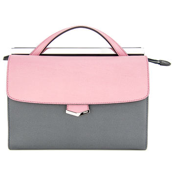 Fendi Pink and Grey Demi Jour Tote