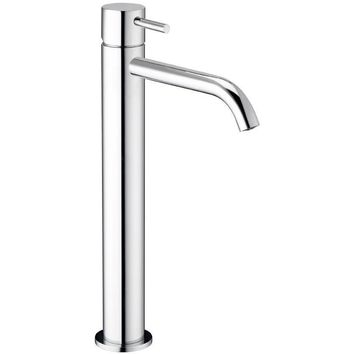 Knob Single Lever Handle Bathroom Vessel Filler Tall Lavatory Basin Faucet