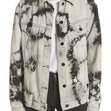 Ashley Williams Western Tie Dye Denim Jacket | Nordstrom
