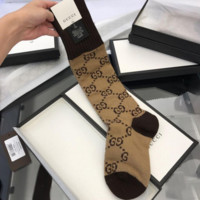 GUCCI Fashion GG pattern cotton blend socks - Women's socks G