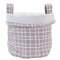 Woven Recycled Canvas Bucket (Grey)