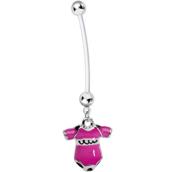 Pink Cute Onesuit Pregnancy Belly Ring