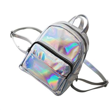 School Holographic backpack for Girls