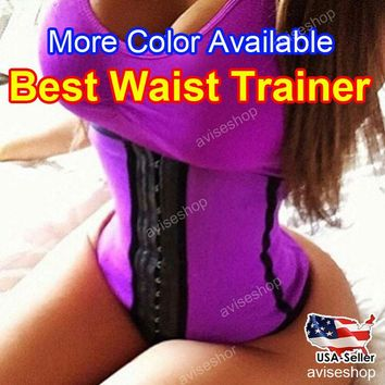 Underbust Corset Waist Trainer Cincher Girdle Sports Body Shaper Workout Belt Top